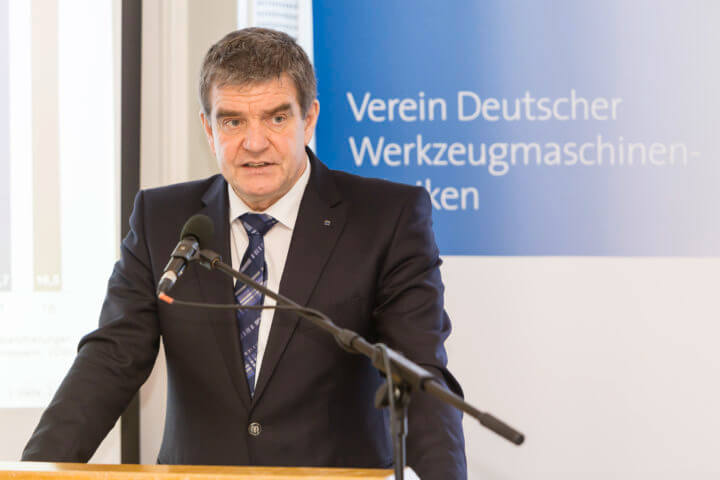 Dr. Heinz-Jürgen Prokop, Chairman of the VDW (German Machine Tool Builders' Association), Frankfurt am Main, Managing Director of Trumpf Werkzeugmaschinen GmbH + Co. KG, Ditzingen