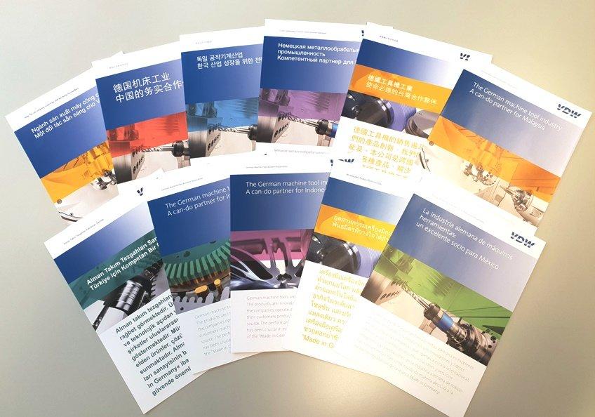 Ob in Asien oder Amerika: Das Messemodul informiert kompakt über die deutsche Werkzeugmaschinenindustrie, den bilateralen Handel mit dem jeweiligen Zielmarkt sowie das Dienstleistungsportfolio des VDW für seine Mitglieder und die Branche.