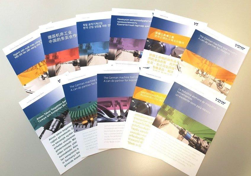 Ob in Asien oder Amerika: Das VDW-Messemodul informiert kompakt über die deutsche Werkzeugmaschinenindustrie, den bilateralen Handel mit dem jeweiligen Zielmarkt sowie das Dienstleistungsportfolio des VDW für seine Mitglieder und die Branche.