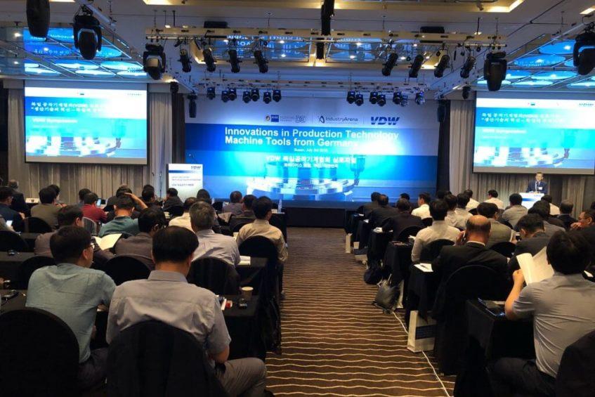 """""""Innovationen in der Fertigungstechnik: Werkzeugmaschinen aus Deutschland"""" VDW-Symposium und B2B Matchmaking in Südkorea / Busan (03. / 04. Juli 2018)"""