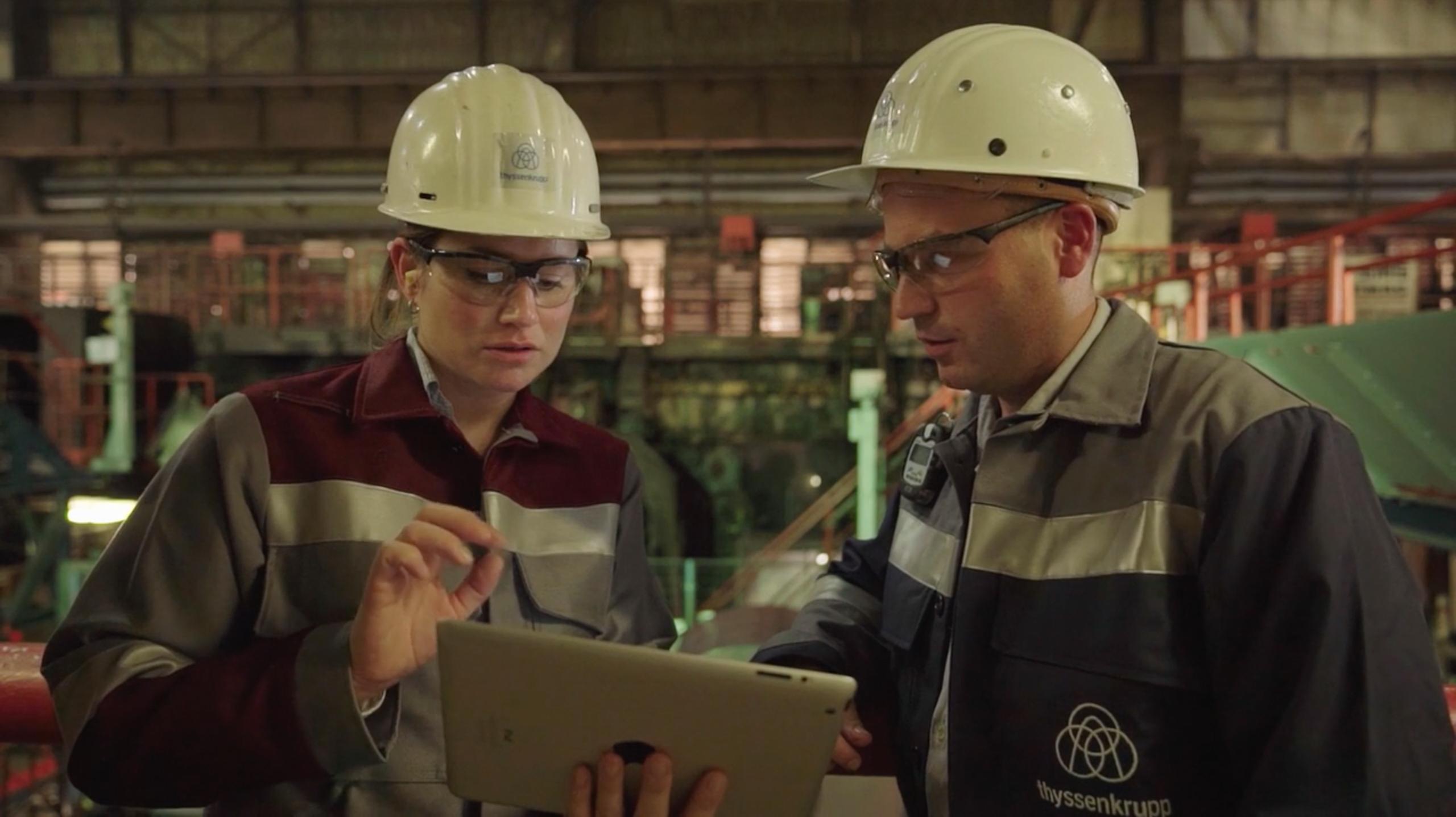 Mitarbeiter Instandhaltung, Quelle: thyssenkrupp