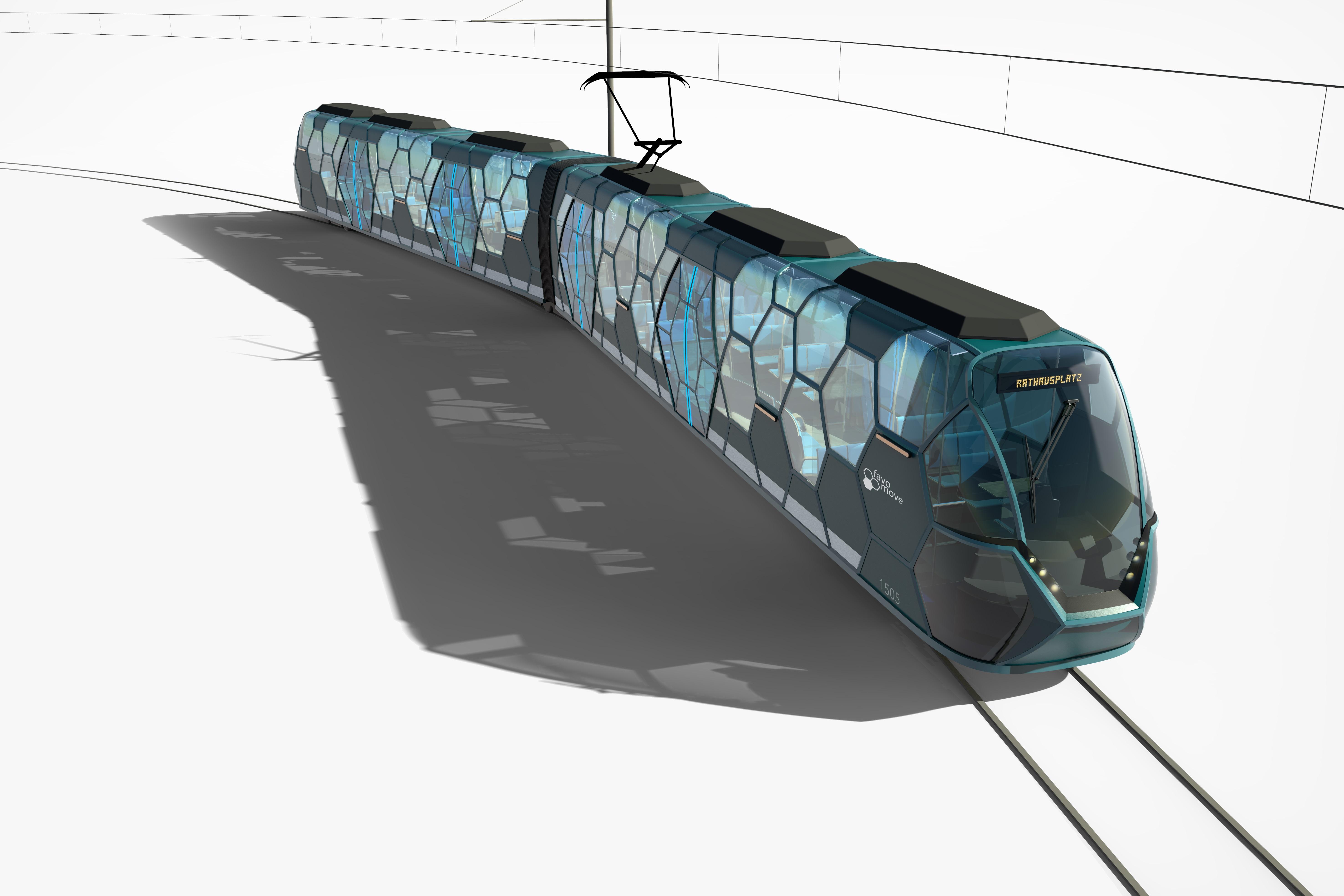 Straßenbahnwagen Konzept