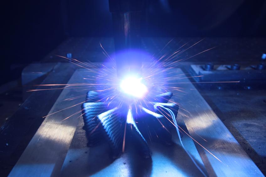 Produktion eines Turbinenrads per Auftragsschweißen. Foto: Gefertec