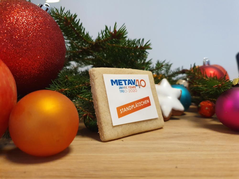 Auch ohne Überzug immer von der Schokoladenseite getroffen: das METAV-Standplätzchen. (Foto: Dr. Stefan Schwaneck)