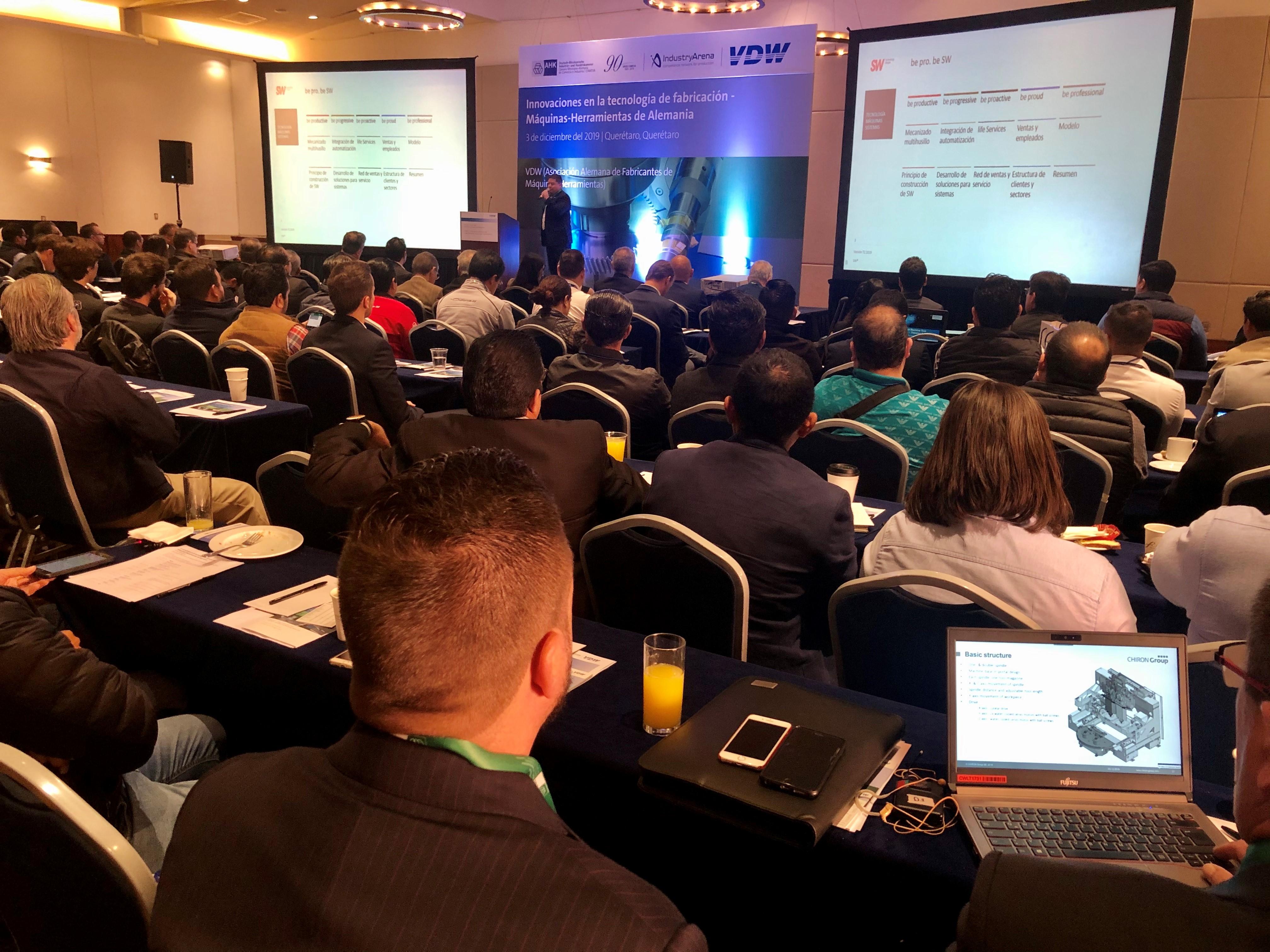 Mit rd. 300 hochqualifizierten Fachbesuchern waren die VDW-Symposien 2019 in Querétaro und Monterrey, Mexiko, ein voller Erfolg. Neben Vorträgen und B2B-Meetings standen auch Unternehmensbesuche auf dem Programm.