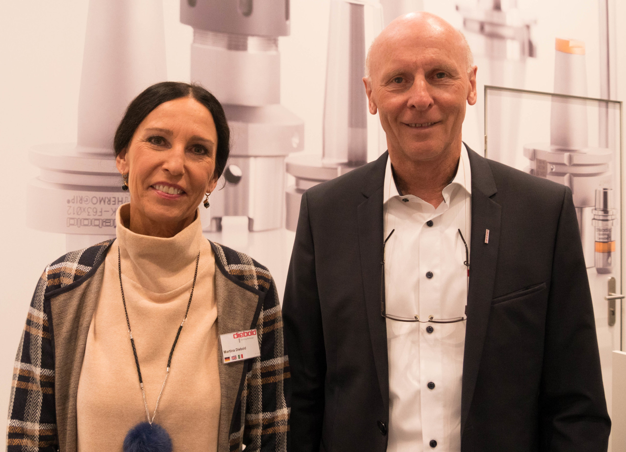 "Authorised signatory Martina Diebold and managing director Hermann Diebold, Helmut Diebold GmbH & Co. Goldring-Werkzeugfabrik: ""We're investing a great deal of effort in Industry 4.0 digitalisation. A foretaste of this will be provided at METAV 2020.""  Photo: Nikolaus Fecht"