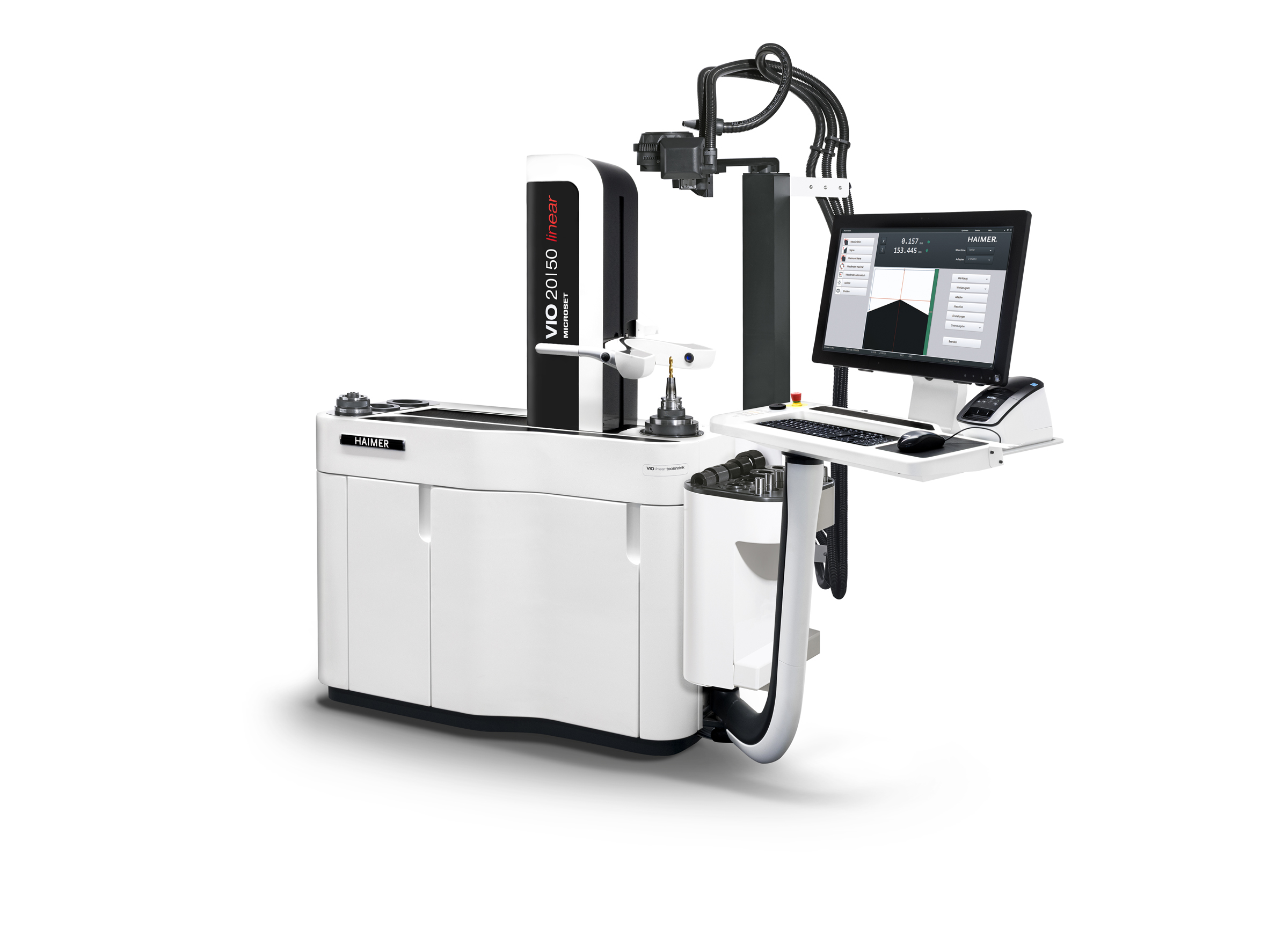 The combined presetting and shrink-fit device Haimer Microset VIO linear toolshrink has Industry 4.0 capability, and can be integrated into digital processes without any problems.  Photo: Haimer