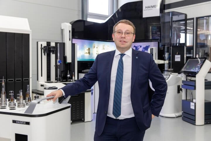 """All digital options have to be rigorously implemented – from the tool itself, then the tool-holder, including the clamping operation and balancing, all the way through to tool presetting and deployment on the machine,"" to quote Andreas Haimer, General Manager at Haimer GmbH. Photo: Haimer"