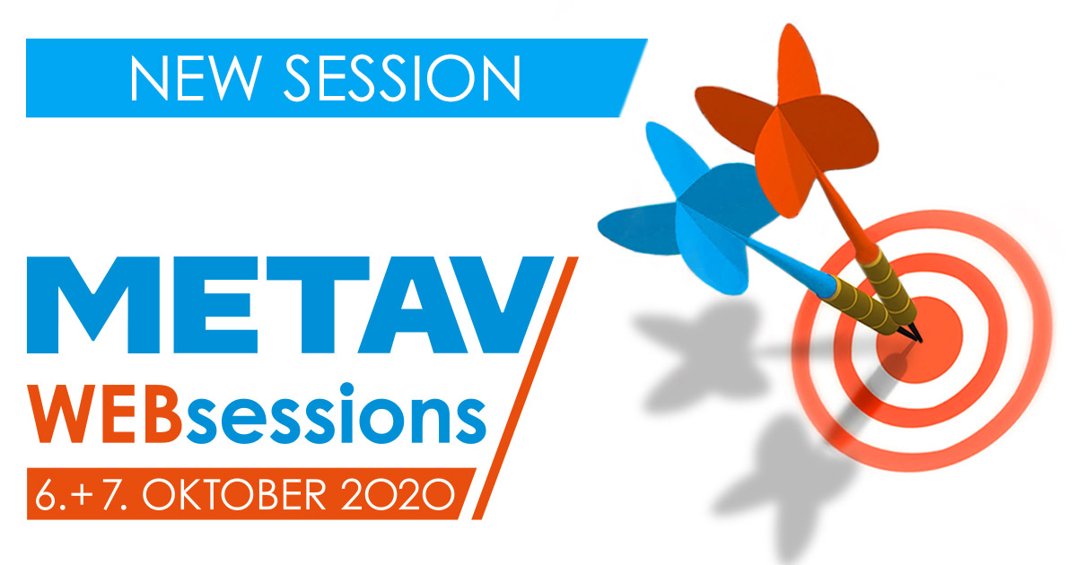 METAV Web-Sessions will start on 06 October 2020.