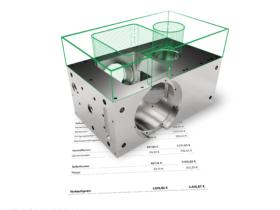 Spanflug analysiert das CAD-Modell und die technische Zeichnung eines Bauteils und kalkuliert auf Basis dieser Daten in wenigen Sekunden einen Preis. Quelle: Spanflug
