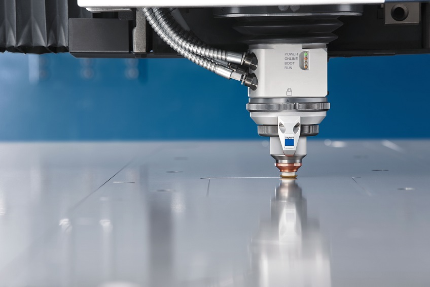 One exemple of sheet metal processing: Nitrogen cutting at record speed with a solid-state laser: The sheet throughput for medium to thick sheets is increased by up to 100 per cent. At the same time, the gas consumption goes down – by as much as 70 per cent with Highspeed Eco. Source: Trumpf Group
